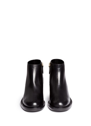 Front View - Click To Enlarge - Nicholas Kirkwood - 'Casati' faux pearl heel leather ankle boots