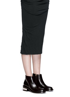 Nicholas Kirkwood'Casati' faux pearl heel leather ankle boots