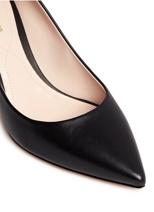 Detail View - Click To Enlarge - Nicholas Kirkwood - 'Maeva' faux pearl heel leather pumps