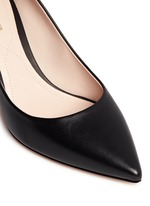 'Maeva' faux pearl heel leather pumps