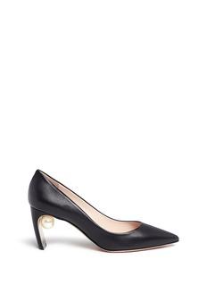 Nicholas Kirkwood'Maeva' faux pearl heel leather pumps