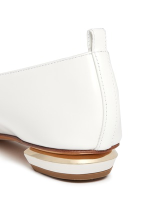Detail View - Click To Enlarge - Nicholas Kirkwood - 'Beya' bow metal heel leather skimmer loafers
