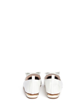 Back View - Click To Enlarge - Nicholas Kirkwood - 'Beya' bow metal heel leather skimmer loafers