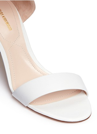 Detail View - Click To Enlarge - Nicholas Kirkwood - Faux pearl heel ankle strap leather sandals
