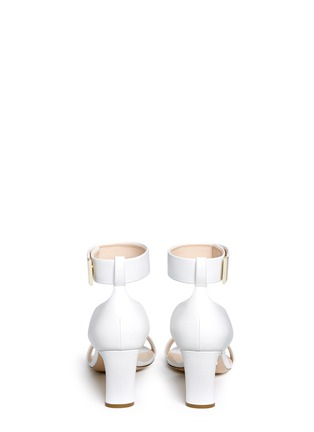 Back View - Click To Enlarge - Nicholas Kirkwood - Faux pearl heel ankle strap leather sandals