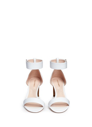 Front View - Click To Enlarge - Nicholas Kirkwood - Faux pearl heel ankle strap leather sandals