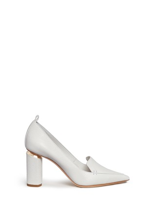 Main View - Click To Enlarge - Nicholas Kirkwood - 'Beya' metal trim heel leather pumps
