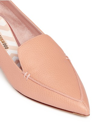 Detail View - Click To Enlarge - Nicholas Kirkwood - 'Beya Bottalato' metal heel leather skimmer loafers