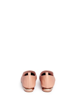 Back View - Click To Enlarge - Nicholas Kirkwood - 'Beya Bottalato' metal heel leather skimmer loafers