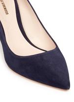 'Maeva' faux pearl heel suede pumps