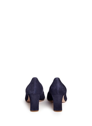 Back View - Click To Enlarge - Nicholas Kirkwood - 'Maeva' faux pearl heel suede pumps
