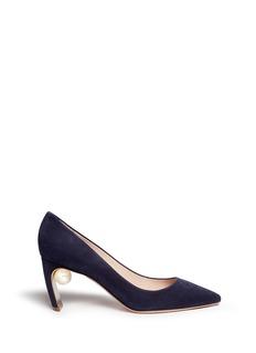Nicholas Kirkwood'Maeva' faux pearl heel suede pumps