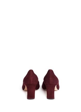 Back View - Click To Enlarge - Nicholas Kirkwood - 'Maeva' faux pearl heel suede pumps