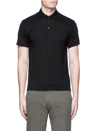 Main View - Click To Enlarge - Scotch & Soda - Garment dyed piqué polo shirt