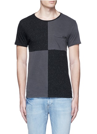 Main View - Click To Enlarge - Scotch & Soda - 'Lot 22' checkboard slub jersey T-shirt