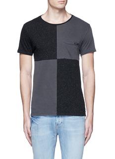 Scotch & Soda'Lot 22' checkboard slub jersey T-shirt