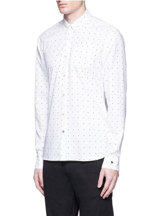 Front View - Click To Enlarge - Scotch & Soda - Signature print cotton shirt