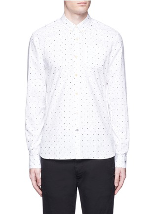 Main View - Click To Enlarge - Scotch & Soda - Signature print cotton shirt