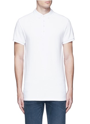 Main View - Click To Enlarge - Scotch & Soda - 'Home Alone' cotton piqué polo shirt