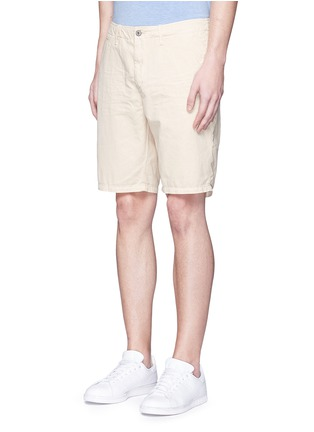 Front View - Click To Enlarge - Scotch & Soda - Garment dyed cotton shorts