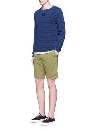 Figure View - Click To Enlarge - Scotch & Soda - Garment dyed cotton shorts