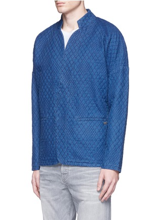 Front View - Click To Enlarge - Scotch & Soda - Interlock stitch cotton sherwani jacket