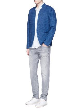 Figure View - Click To Enlarge - Scotch & Soda - Interlock stitch cotton sherwani jacket