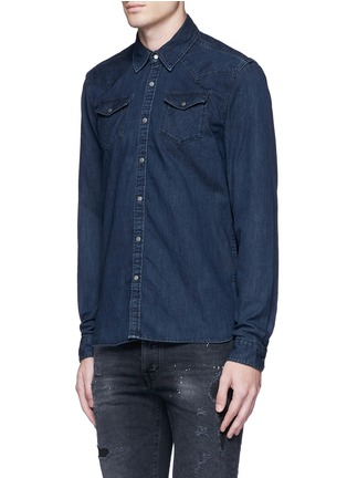 Front View - Click To Enlarge - Scotch & Soda - Denim Western shirt