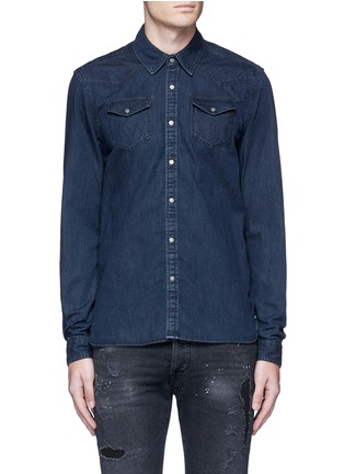 Main View - Click To Enlarge - Scotch & Soda - Denim Western shirt