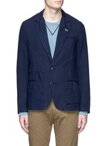 Slim fit cotton-linen soft blazer