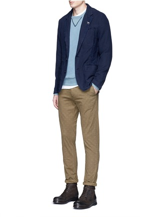 Scotch & Soda - Slim fit cotton-linen soft blazer
