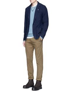Scotch & SodaSlim fit cotton-linen soft blazer