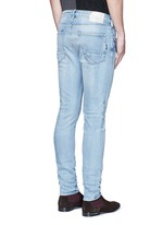 'Lot 22 The Skim' bleach wash jeans