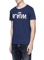 Logo appliqué slub jersey T-shirt