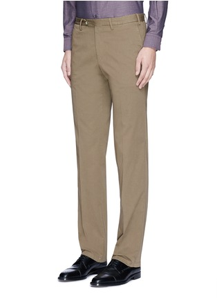 Front View - Click To Enlarge - Canali - Regular fit stretch cotton chinos