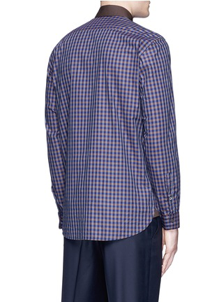 Canali - Gingham check cotton shirt