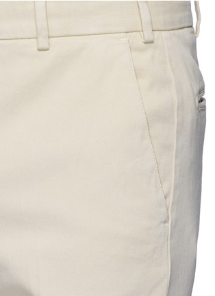 Detail View - Click To Enlarge - Armani Collezioni - Regular fit cotton chinos