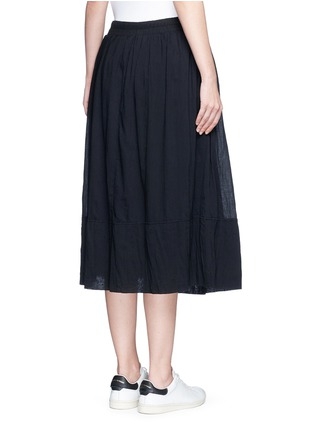 Back View - Click To Enlarge - James Perse - Puckered drawstring cotton gauze skirt