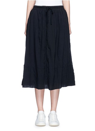Main View - Click To Enlarge - James Perse - Puckered drawstring cotton gauze skirt