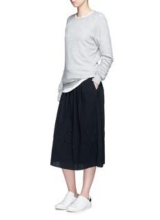 James PersePuckered drawstring cotton gauze skirt