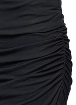 Shirred cotton jersey tube skirt