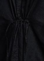 V-neck canvas linen Kaftan