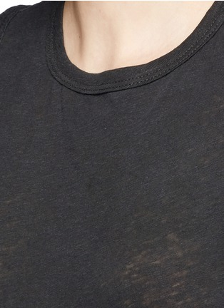 Detail View - Click To Enlarge - James Perse - Linen-cotton tomboy tank top
