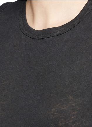 James Perse-Linen-cotton tomboy tank top