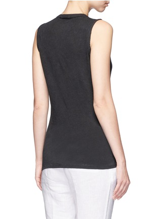 Back View - Click To Enlarge - James Perse - Linen-cotton tomboy tank top