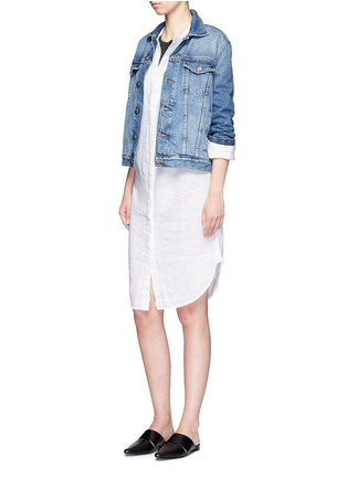 Figure View - Click To Enlarge - James Perse - Linen-cotton tomboy tank top