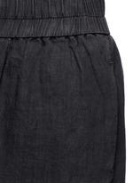 Short linen culottes
