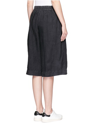 Back View - Click To Enlarge - James Perse - Short linen culottes