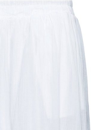 Detail View - Click To Enlarge - James Perse - Puckered drawstring cotton gauze skirt