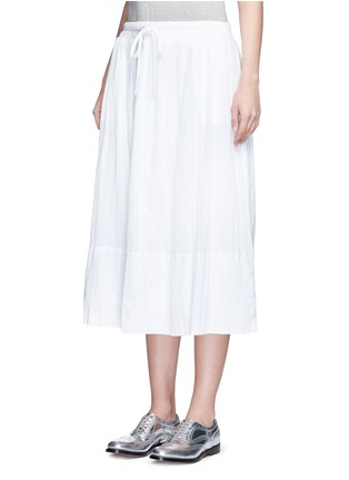 Front View - Click To Enlarge - James Perse - Puckered drawstring cotton gauze skirt